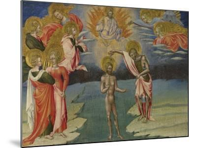 The Baptism of Christ (Predella Pane), 1454-Giovanni di Paolo-Mounted Giclee Print