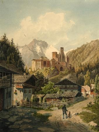 Alpine Landscape with a Castle-Ferdinand Gatt-Framed Giclee Print