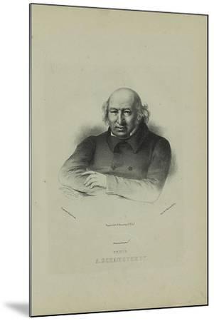 Portrait of the Author Prince Alexander Shakhovskoi (1777-184), 1860S-Pyotr Fyodorovich Borel-Mounted Giclee Print