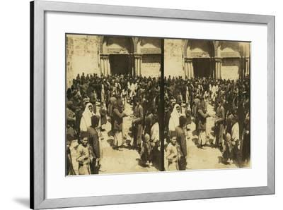 The Consecration of Easter Eggs on Easter before the Church of the Holy Sepulchre, 1913--Framed Giclee Print
