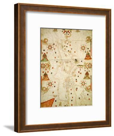 Mediterranean and the Black Sea Map, 1563-Jaume Olives-Framed Giclee Print