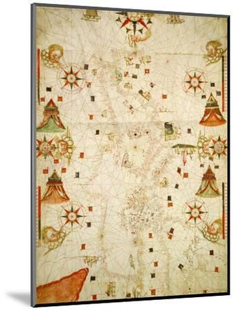 Mediterranean and the Black Sea Map, 1563-Jaume Olives-Mounted Giclee Print