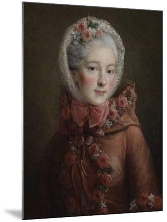 Portrait of Princess Natalya Petrovna Galitzine (1741-183), 1760-Fran?ois-Hubert Drouais-Mounted Giclee Print
