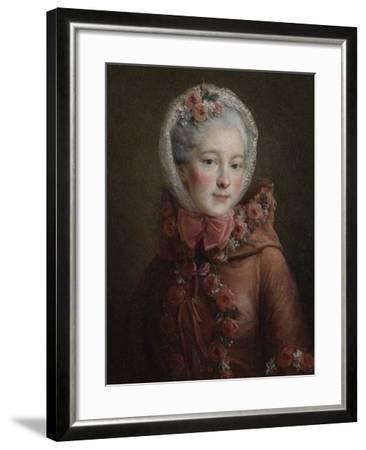 Portrait of Princess Natalya Petrovna Galitzine (1741-183), 1760-Fran?ois-Hubert Drouais-Framed Giclee Print