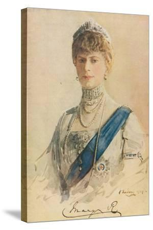Her Majesty Queen Mary, 1913-John Lavery-Stretched Canvas Print