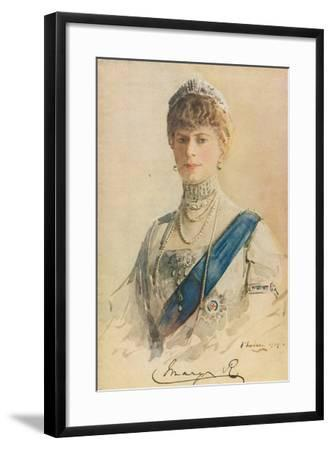 Her Majesty Queen Mary, 1913-John Lavery-Framed Giclee Print