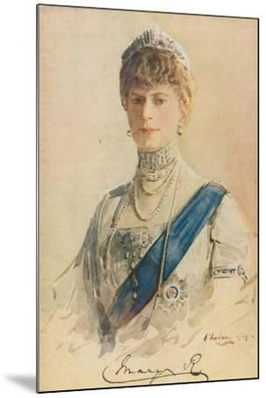 Her Majesty Queen Mary, 1913-John Lavery-Mounted Giclee Print