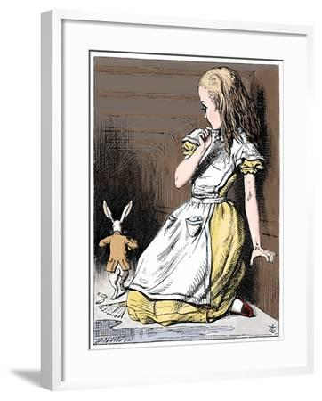 Scene from Alice's Adventures in Wonderland by Lewis Carroll, 1865-John Tenniel-Framed Giclee Print