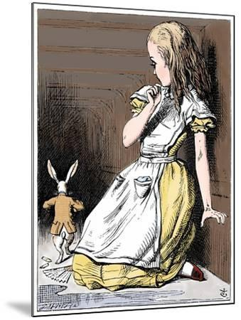 Scene from Alice's Adventures in Wonderland by Lewis Carroll, 1865-John Tenniel-Mounted Giclee Print