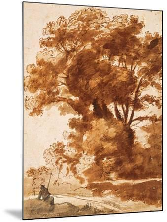 Group of Trees and Resting Sheperd, 1630S-Claude Lorraine-Mounted Giclee Print