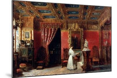 Princess Marie D?Orléans (1813-183), Duchess of Württemberg, in Her Atelier-Prosper Lafaye-Mounted Giclee Print