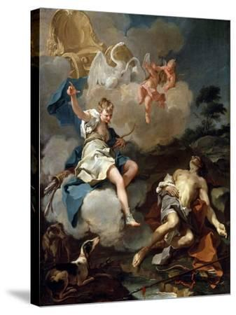 Diana and Endymion, 1723-Giovanni Battista Pittoni-Stretched Canvas Print