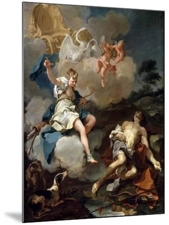 Diana and Endymion, 1723-Giovanni Battista Pittoni-Mounted Giclee Print