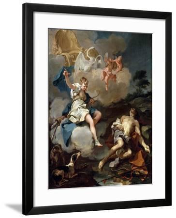 Diana and Endymion, 1723-Giovanni Battista Pittoni-Framed Giclee Print