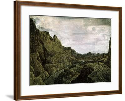 Rocky Valley with a Road, 17th Century-Hercules Seghers-Framed Giclee Print