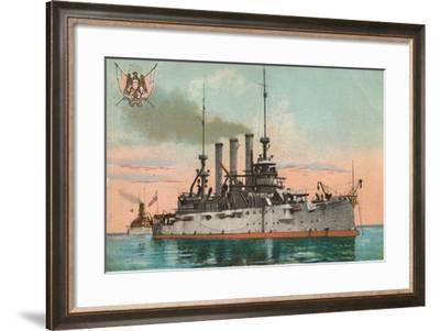 Us Battleship Missouri, C1908--Framed Giclee Print