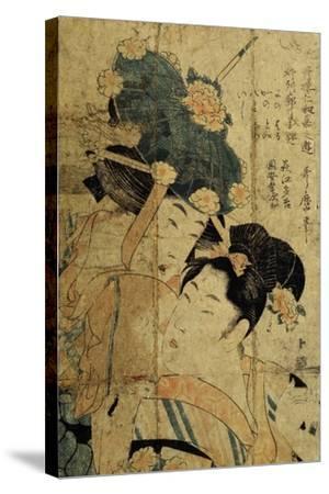 Courtesans from Hagi, C1805-C1810-Kitagawa Utamaro II-Stretched Canvas Print