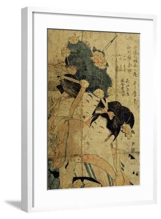 Courtesans from Hagi, C1805-C1810-Kitagawa Utamaro II-Framed Giclee Print
