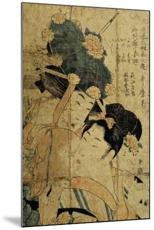 Courtesans from Hagi, C1805-C1810-Kitagawa Utamaro II-Mounted Giclee Print