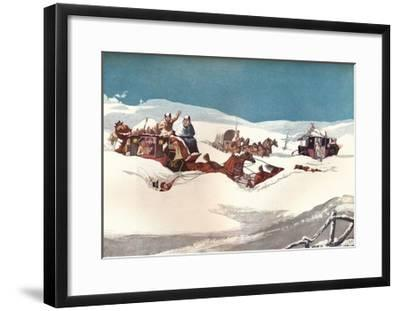 The Holyhead and Chester Mails, 1905-Robert Havell the Younger-Framed Giclee Print