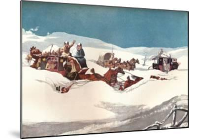 The Holyhead and Chester Mails, 1905-Robert Havell the Younger-Mounted Giclee Print