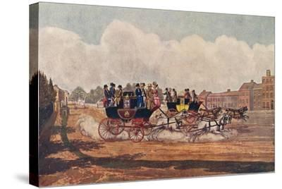 The Oxford and Opposition Coaches, 1906-W Flavell-Stretched Canvas Print