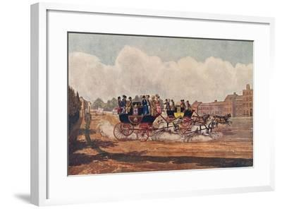 The Oxford and Opposition Coaches, 1906-W Flavell-Framed Giclee Print
