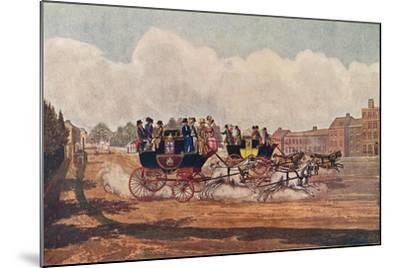 The Oxford and Opposition Coaches, 1906-W Flavell-Mounted Giclee Print