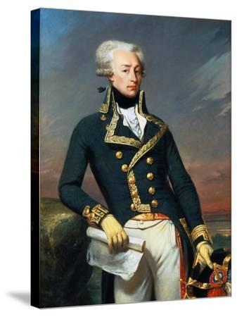 Portrait of Gilbert Motier the Marquis De La Fayette (1757-183), as a Lieutenant General, 1791-Joseph-D?sir? Court-Stretched Canvas Print