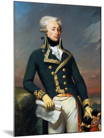Portrait of Gilbert Motier the Marquis De La Fayette (1757-183), as a Lieutenant General, 1791-Joseph-D?sir? Court-Mounted Giclee Print