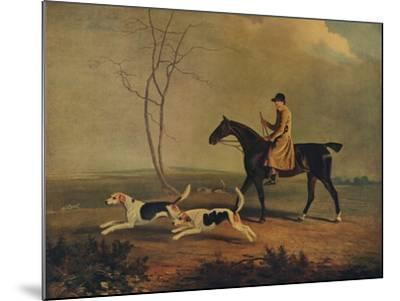 Tom Oldaker, Huntsman of the Berkley Hounds, on Pickle, with the Hounds, 1929-Benjamin Marshall-Mounted Giclee Print