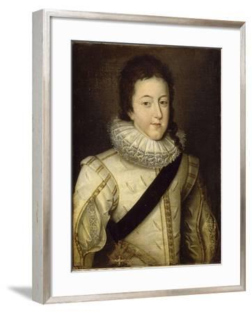 Louis XIII, King of France and Navarre (1601-164) as Dauphin-Frans Pourbus-Framed Giclee Print
