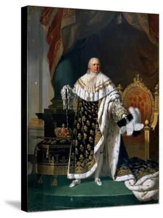 Portrait of Louis XVIII (1755-182) in Coronation Robes-Robert Lefévre-Stretched Canvas Print