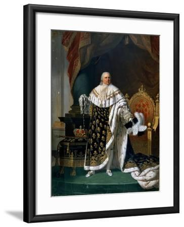Portrait of Louis XVIII (1755-182) in Coronation Robes-Robert Lefévre-Framed Giclee Print