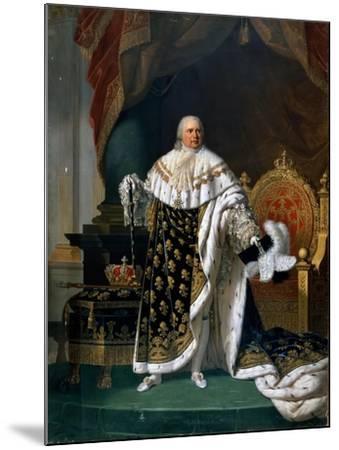 Portrait of Louis XVIII (1755-182) in Coronation Robes-Robert Lefévre-Mounted Giclee Print