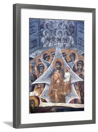 Christ with the Soul of the Virgin at the Gates of Heaven, 1321-1322--Framed Giclee Print