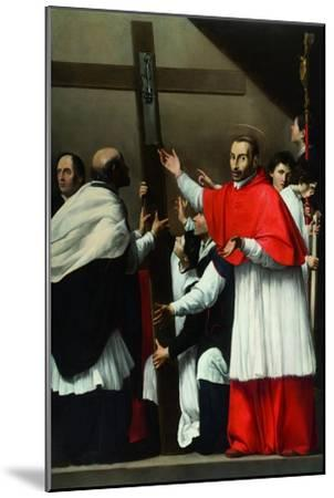 The Exaltation of the Holy Nail with Saint Charles Borromeo-Carlo Saraceni-Mounted Giclee Print