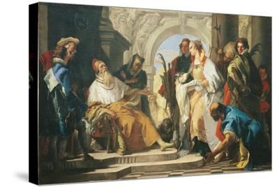 The Patron Saints of the Crotta Family-Giambattista Tiepolo-Stretched Canvas Print