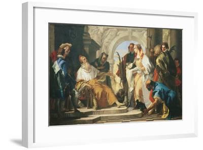 The Patron Saints of the Crotta Family-Giambattista Tiepolo-Framed Giclee Print