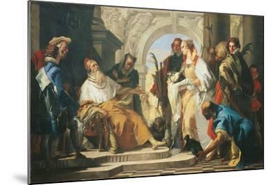 The Patron Saints of the Crotta Family-Giambattista Tiepolo-Mounted Giclee Print