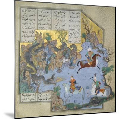 Faridun in the Guise of a Dragon Tests His Sons- Aqa Mirak-Mounted Giclee Print