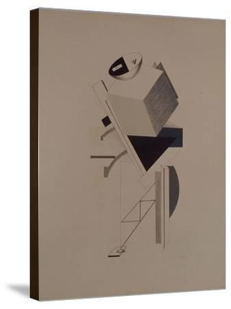 Strong Guy. Figurine for the Opera Victory over the Sun by A. Kruchenykh, 1920-1921-El Lissitzky-Stretched Canvas Print