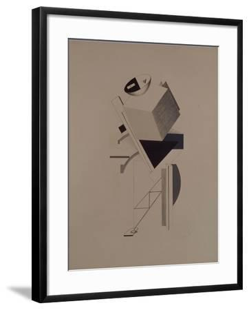 Strong Guy. Figurine for the Opera Victory over the Sun by A. Kruchenykh, 1920-1921-El Lissitzky-Framed Giclee Print