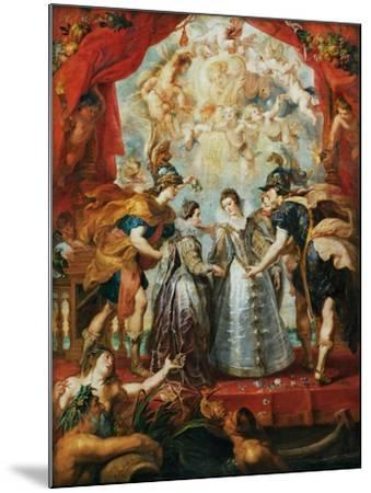 The Exchange of the Princesses at the Spanish Border-Peter Paul Rubens-Mounted Giclee Print