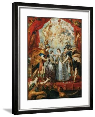 The Exchange of the Princesses at the Spanish Border-Peter Paul Rubens-Framed Giclee Print