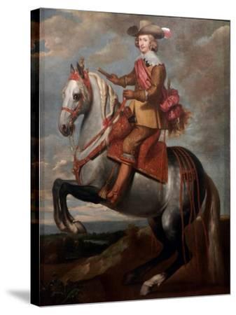 Equestrian Portrait of Cardinal-Infante Ferdinand of Austria-Caspar De Crayer-Stretched Canvas Print