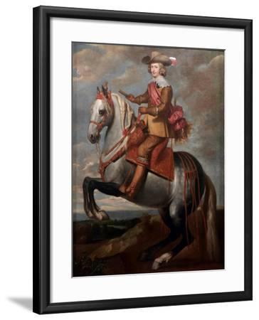 Equestrian Portrait of Cardinal-Infante Ferdinand of Austria-Caspar De Crayer-Framed Giclee Print