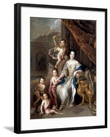 Marquise De Montespan (1640-170) and Her Children-Charles de La Fosse-Framed Giclee Print