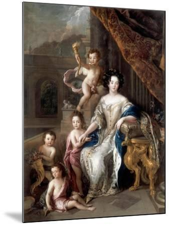 Marquise De Montespan (1640-170) and Her Children-Charles de La Fosse-Mounted Giclee Print