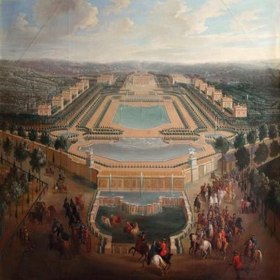 General View of the Chateau and Pavilions at Marly-Pierre-Denis Martin II-Framed Giclee Print